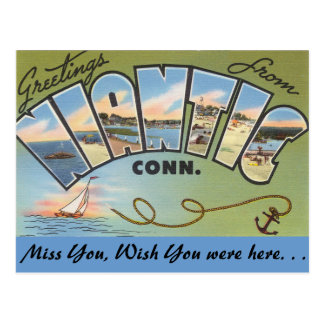 Greetings from Niantic Postcard