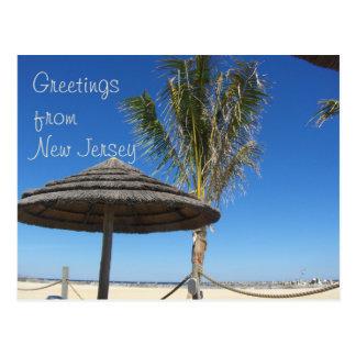 Greetings from NJ - Tiki & Palm Postcard