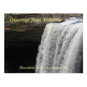 Greetings from Noccalula Falls Postcard