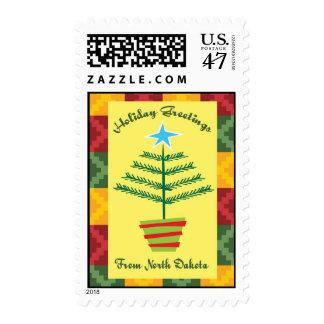 Greetings From North Dakota Postage Stamp