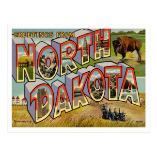 Greetings From North Dakota Postcard