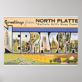 Greetings from North Platte Nebraska_Vintage Poster
