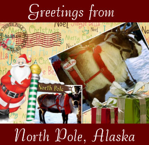 Greetings from north pole gifts on zazzle greetings from north pole alaska magnet m4hsunfo