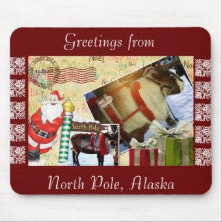 Greetings From North Pole Alaska Mousepad