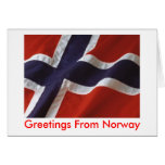 Greetings From Norway Greeting Card