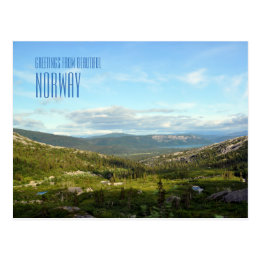 Greetings from Norway landscape photo card