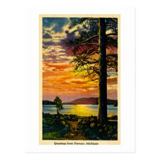 Greetings from Norway, Michigan - Vintage Postcard