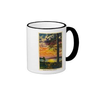 Greetings from Norway, Michigan - Vintage Ringer Mug