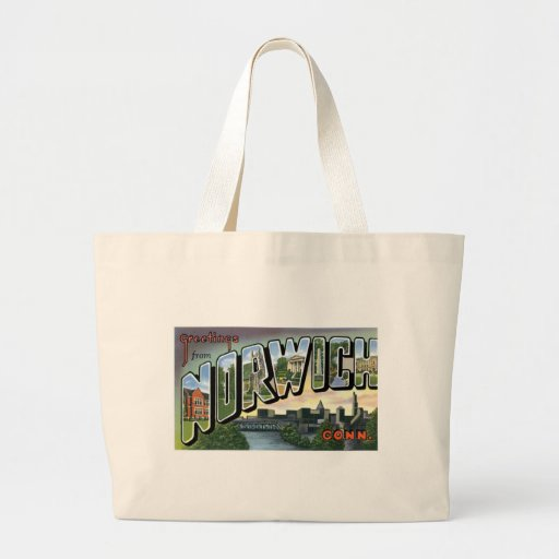Greetings from Norwich, Connecticut! Jumbo Tote Bag