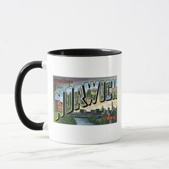 Greetings from Norwich, Connecticut! Mug
