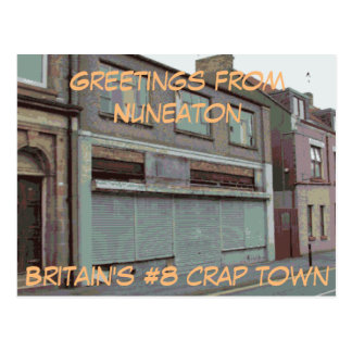 Greetings from Nuneaton postcard