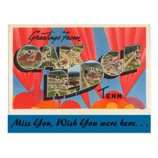 Greetings from Oak Ridge Postcard
