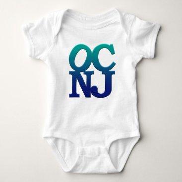 Beach Themed Greetings from Ocean City Baby Bodysuit