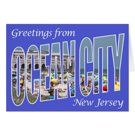 Greetings from Ocean City Card