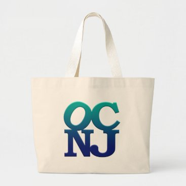 Beach Themed Greetings from Ocean City Large Tote Bag