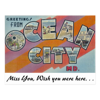Greetings from Ocean City Maryland Post Cards