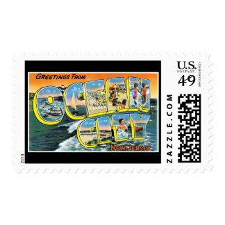 Greetings from Ocean City New Jersey Stamp