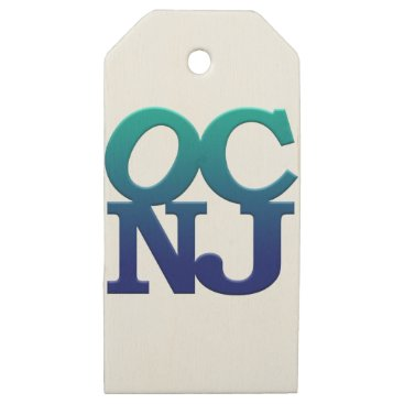 Beach Themed Greetings from Ocean City Wooden Gift Tags