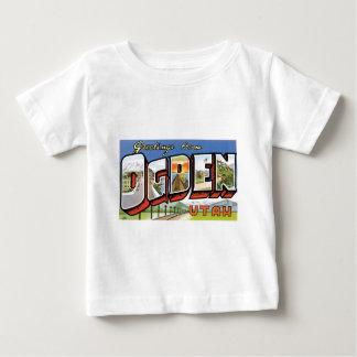 Greetings from Ogden, Utah! Retro Post Card Baby T-Shirt
