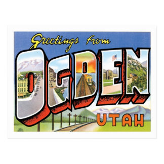 Greetings From Ogden Utah US City Postcard