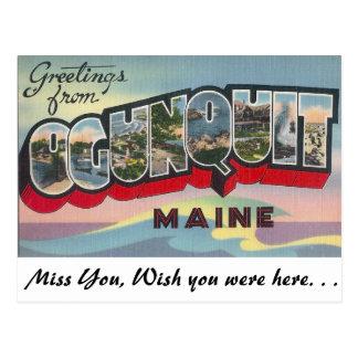 Greetings from Ogunquit, Maine Postcard
