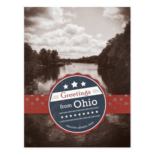 Greetings from Ohio - Vintage Post Card