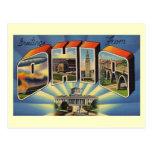 Greetings from Ohio Vintage Postcard