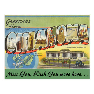 Greetings from Oklahoma Postcard