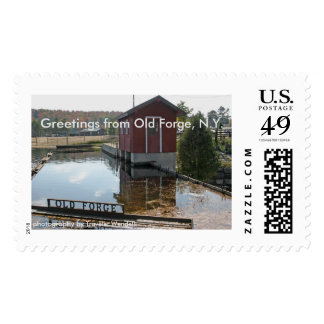 Greetings From Old Forge, N.Y. Postage