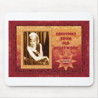 Greetings from Old Hollywood: Claudette Colbert Mouse Pad