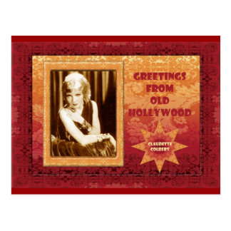 Greetings from Old Hollywood: Claudette Colbert Postcard