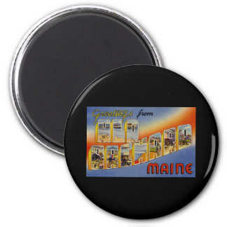 Greetings from Old Orchard Maine 2 Inch Round Magnet