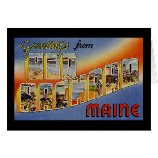 Greetings from Old Orchard Maine Card