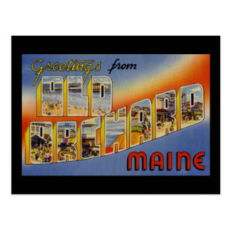 Greetings from Old Orchard Maine Postcard
