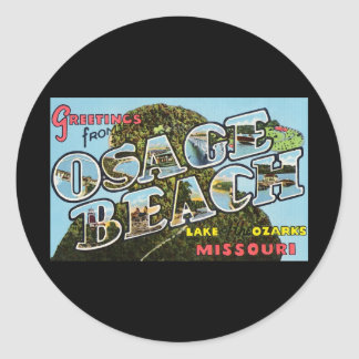Greetings from Osage Beach Missouri Classic Round Sticker