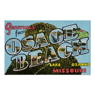 Greetings from Osage Beach Missouri Poster