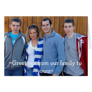 `Greetings from our family to yours~ Card