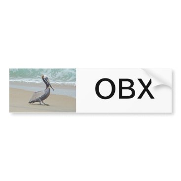 Beach Themed Greetings From Outer Banks OBX NC Bumper Sticker