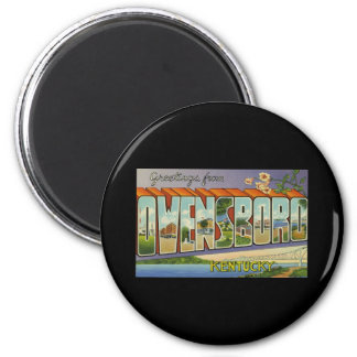 Greetings from Owensboro Kentucky 2 Inch Round Magnet