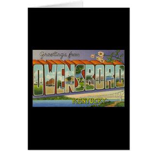 Greetings from Owensboro Kentucky Greeting Card