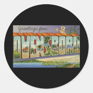 Greetings from Owensboro Kentucky Classic Round Sticker