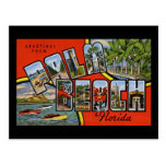 Greetings from Palm Beach Florida Postcard