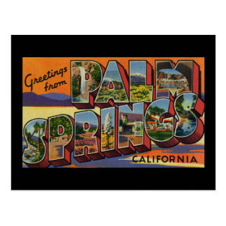 Greetings from Palm Springs California Postcard