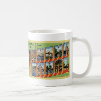 Greetings from Panama Canal Vintage Postcard Mug