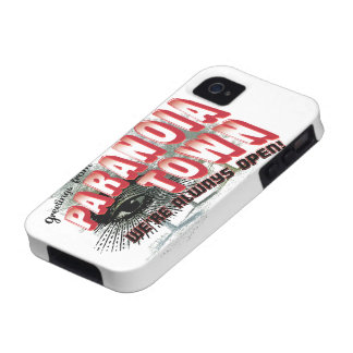 Greetings from Paranoia Town - Always Open Case-Mate iPhone 4 Cases