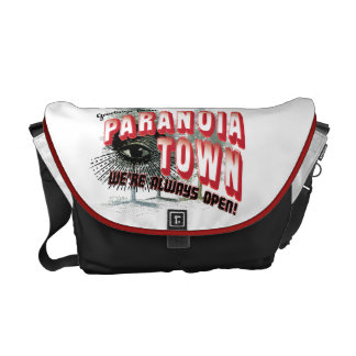 Greetings from Paranoia Town - Always Open Courier Bag