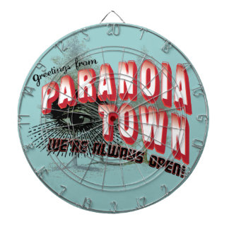 Greetings from Paranoia Town - Always Open Dart Boards