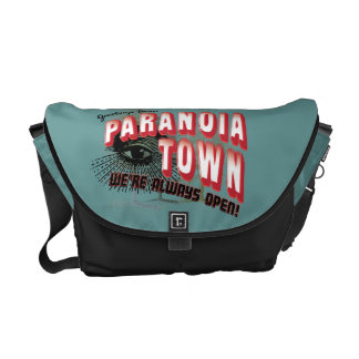 Greetings from Paranoia Town - Always Open Commuter Bags