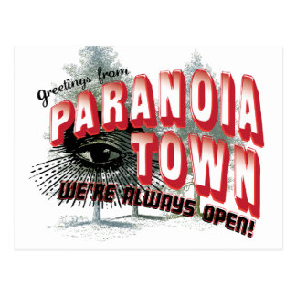 Greetings from Paranoia Town Postcards
