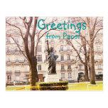 Greetings from Paris Postcard
